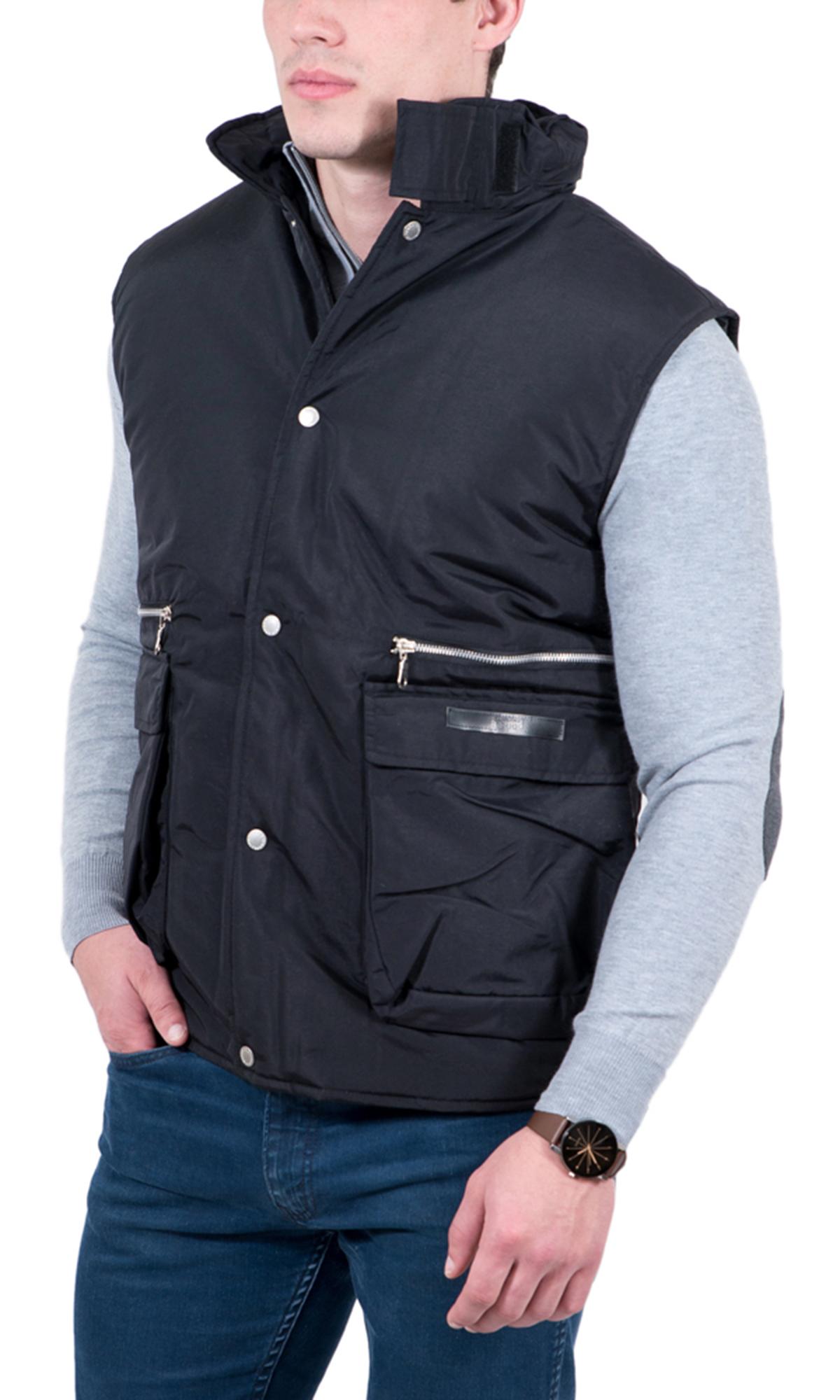 GianFranco-Ferre-X-large-Nero-Black-Sleeveless-Jacket thumbnail 5